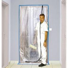 Дверь пленочная COLOR EXPERT LDPE прозрачная с L-подобной молнией, 120*220 см