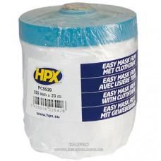 Пленка защитная HPX укрывочная с армированой лентой для наружных работ, 550 мм*20 м