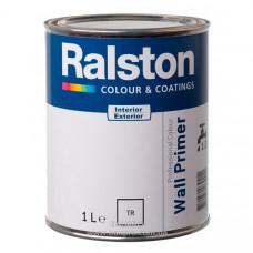 Грунт RALSTON Wall Primer для внутренних и наружных работ, 1 л