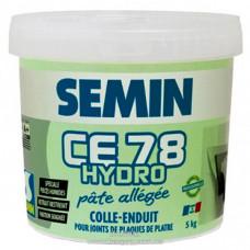 Шпаклевка SEMIN CE 78 HYDRO PATE для влажных помещений, готовая (светло-зеленая), 5 кг
