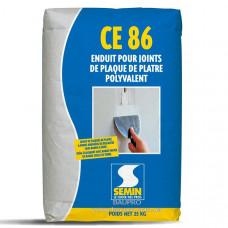 Шпаклевка SEMIN CE 86 для заделки швов без армирующей ленты, 25 кг